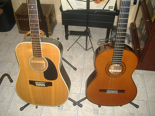 Two Types of Guitars - Alverez Yairi and Sigma Martin