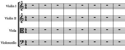 Music's Secret Stairway - String Quartet Staff