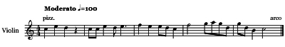 Violin  Articulations - Pizzicato