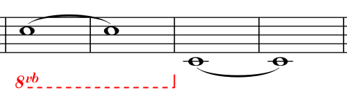 Note Identification - Ottava Bassa vb - Lower Eight Notes