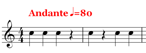 Musical Rest - Rests - Andante 80