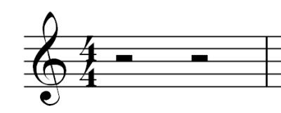 Musical Rest - Half Rest Symbol