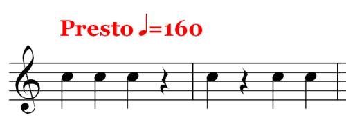 Musical Rest - Rests - Presto 160
