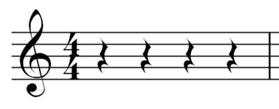Musical Rest - Rests - Quarter Figure
