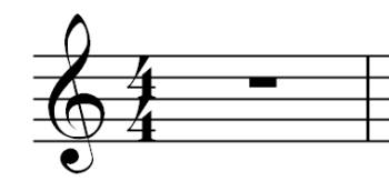 Musical Rest - Symbol for the Whole Rest