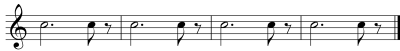 Eighth Notes- Locations - Measure 4