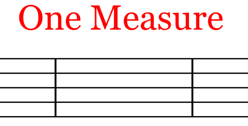Single Staff - Measure