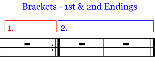 Brackets used in 1st and 2 Endings