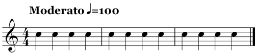 3 Measures in quarter Notes