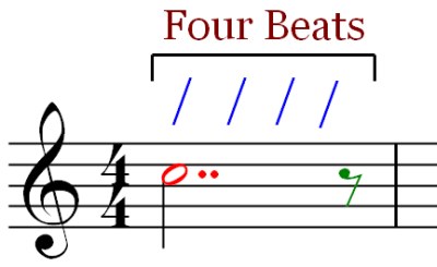 Four Beat Measure - Eighth Rest