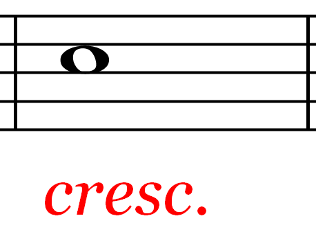 cresc. Music Symbol