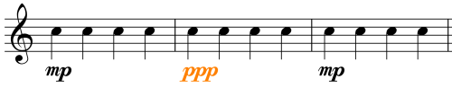 Dynamics - Music Symbol 2 - pianississimo - Compare