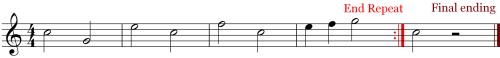 Music Symbols - Replaying Measures