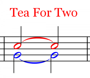 Ties and Slurs Tea For Two1 300x259 Ties and Slurs   Music Theory   Part 18