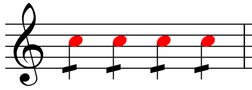 Quarter Note With Repeat Mark