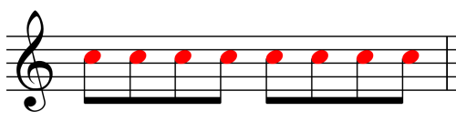 Music Notation - Eighth Notes
