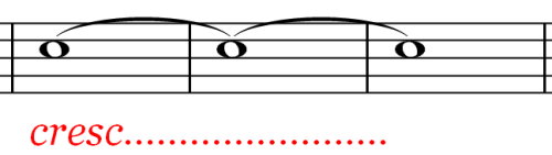 Music Symbol - Gradually Increase Volume