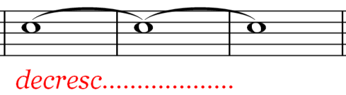 Music Symbol - Get quieter Over a Period of Time