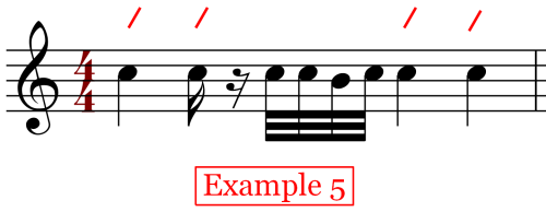 On the Beat Note Placements - Variation