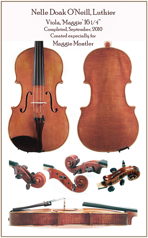 """Nelle O'Neill Luthier - """"Maggie"""" - Viola"""