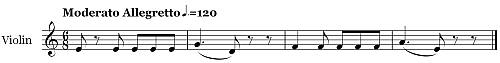 Quartet in F Major K590 Mvmt 2 Extract Time Signatures   22d