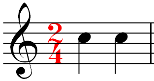 Measure in 2/4 Time Signature