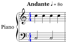 Notation - Piano Staff