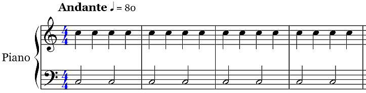 Music Notation - Piano Staff